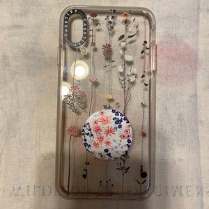 Casetify Iphone XS Max Case - w/popsocket